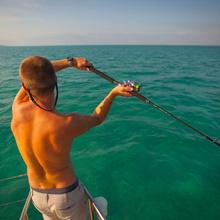 Fishing on the Catsonova Yacht